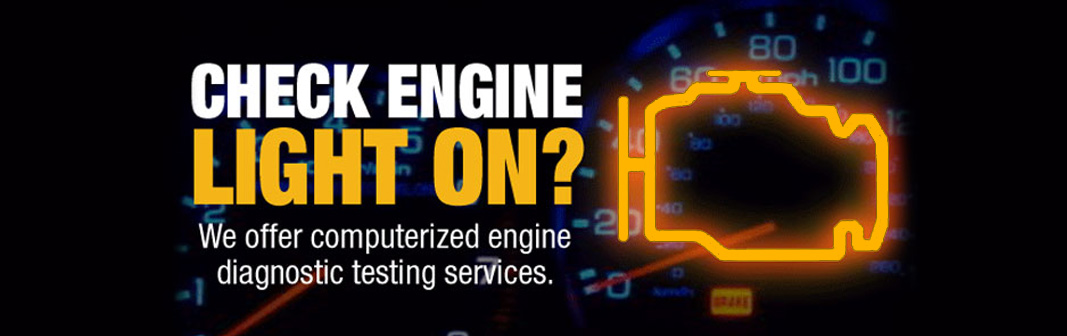 Check engine light on