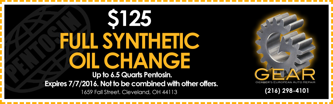 Oil Change Coupon - GEAR - Gerber's European Auto Repair